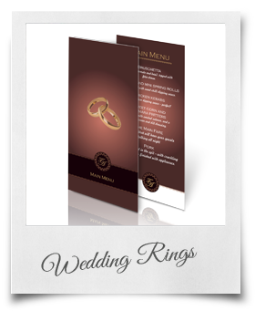 Wedding Rings - Menu Card
