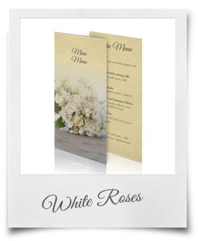 White Roses - Menu Card