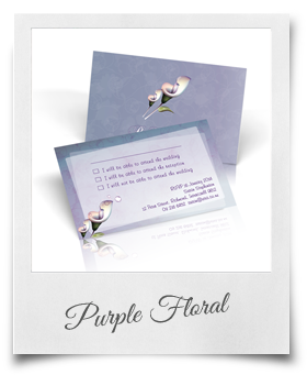 Purple Floral - RSVP Cards