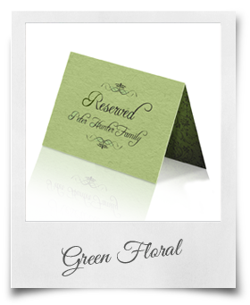 Green Floral - Reserved Card