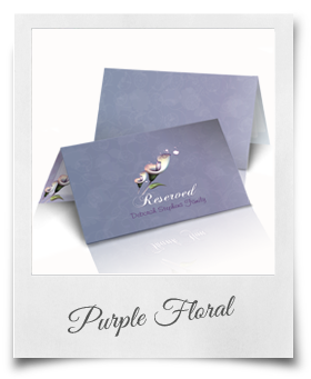 Purple Floral - Reserved Card