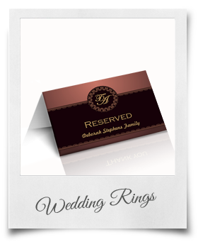 Wedding Rings - Reserved Card