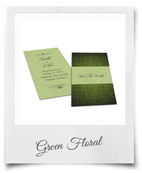 Green Floral - Save The Date