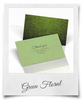 Green Floral - Thank You Cards