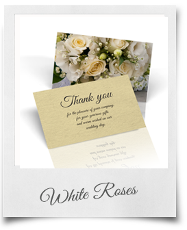White Roses - Thank You Cards