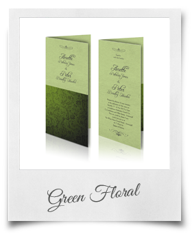 Green Floral - Wedding Invitation