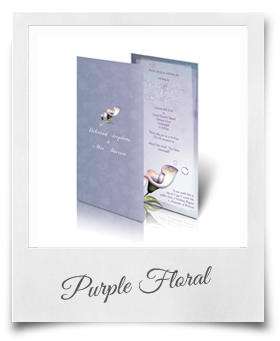Purple Floral - Wedding Invitation