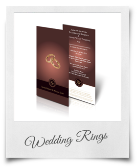 Wedding Rings - Wedding Invitation