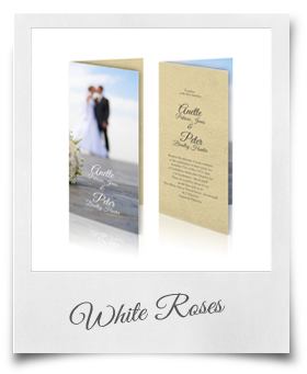 White Roses - Wedding Invitation
